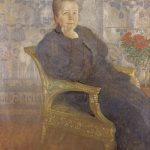Selma Lagerlof painted by Carl_Larsson