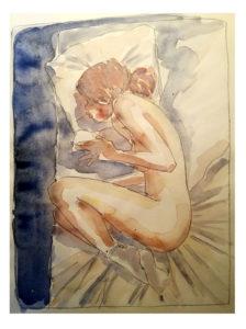 aquarelle sur canson 25x20cm